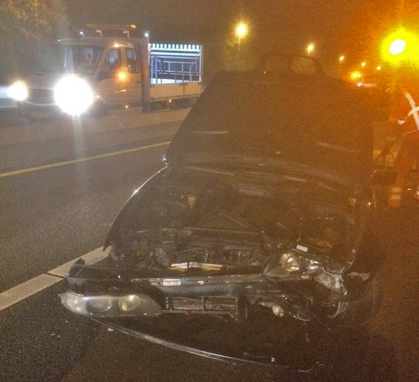 A7: BMW total loss na aanrijding met afzetting