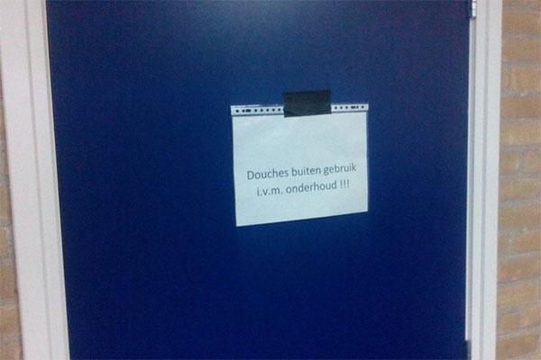 Legionella gevonden in douches kleedkamers