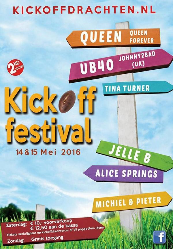 KickOff festival 14 en 15 mei in Drachten