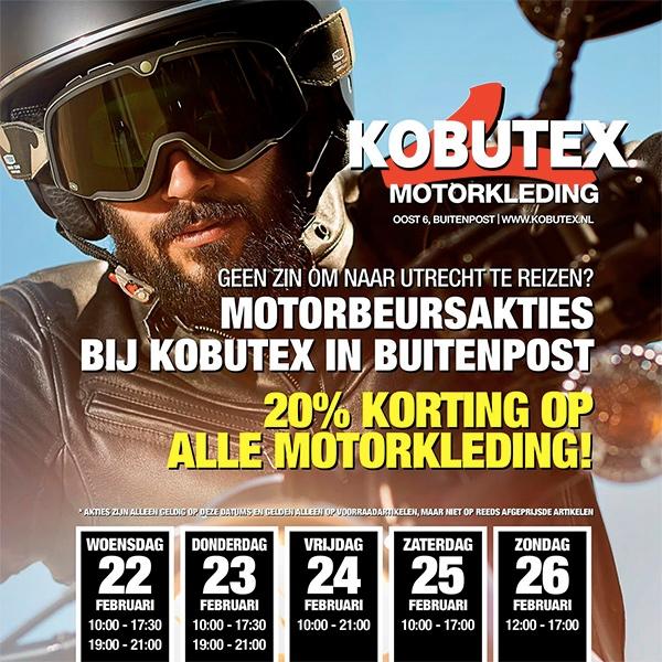 Motorbeurs-acties bij Kobutex in Buitenpost