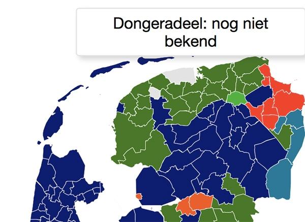 Dongeradeel laatste met verkiezingsuitslag