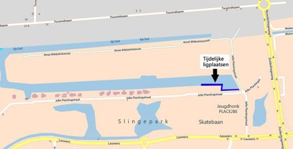 Tijdelijke ligplaatsen bij Slingepark: Simmerdeis