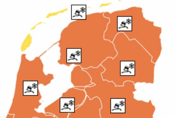 KNMI: Zondag code oranje