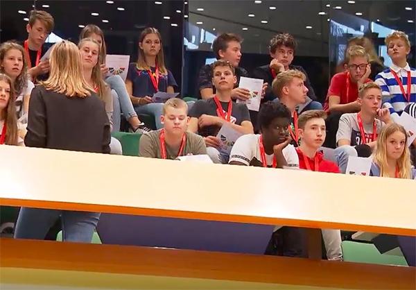 Leerlingen uit Burgum te zien in NOS Journaal