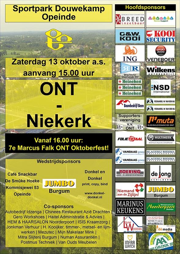 Wordt wedstrijd ONT - Niekerk doelpuntrijk?