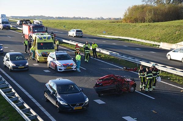 Man uit Buitenpost gewond bij ongeval op N31