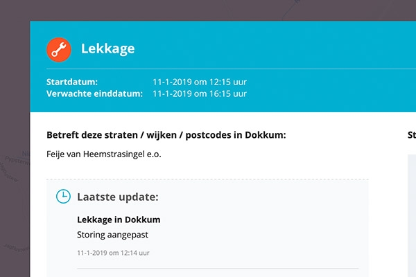 Geen of lage waterdruk in Dokkum en omstreken