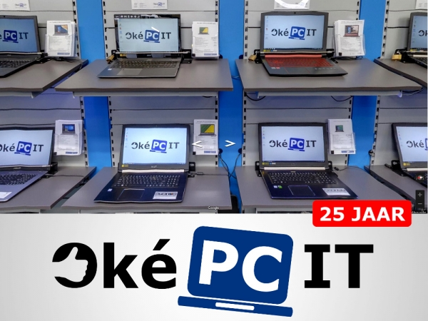 10% korting op laptops: Oké-PC 25 jaar