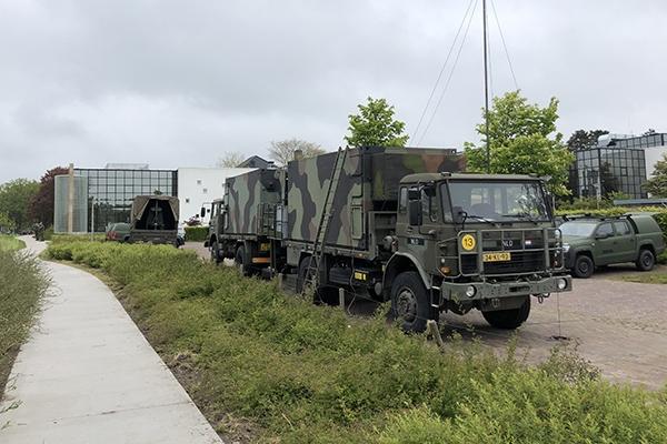 Militairen oefenen twee dagen in Burgum