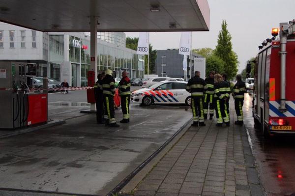 Tankstation afgesloten wegens brandstoflekkage