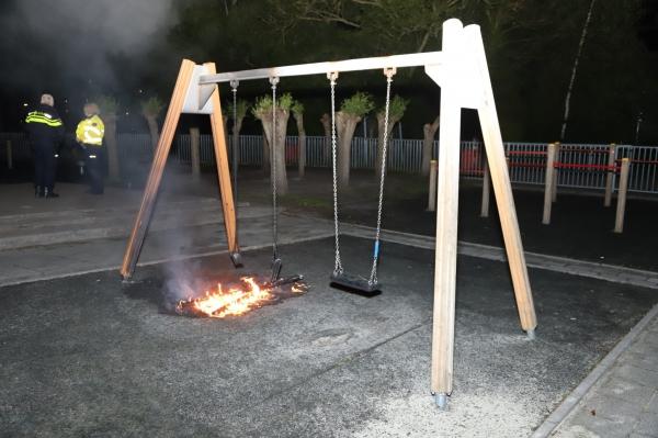 Speeltoestel in brand gezet in Drachten