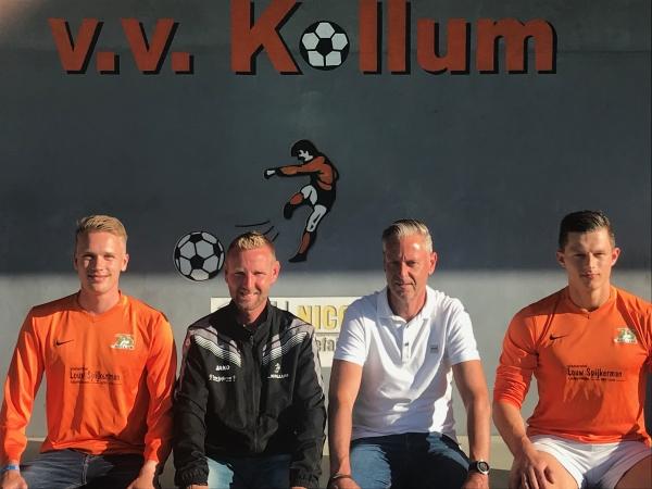 Nieuwe spelers en assistent-trainer voor vv Kollum