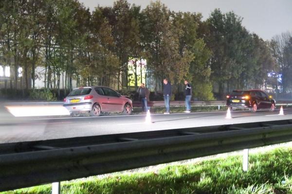 Twee auto's in botsing op A7 bij Drachten