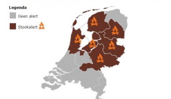 Stook-alert afgegeven voor Friesland