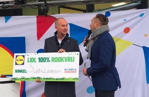 Eerste rookvrije Lidl feestelijk geopend