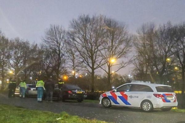 Auto's in botsing op Noorderend