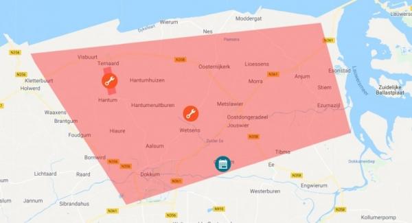Storing: minder/geen water in regio boven Dokkum