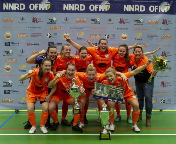 Drachtster Boys VR1 wint weer Open FK zaalvoetbal