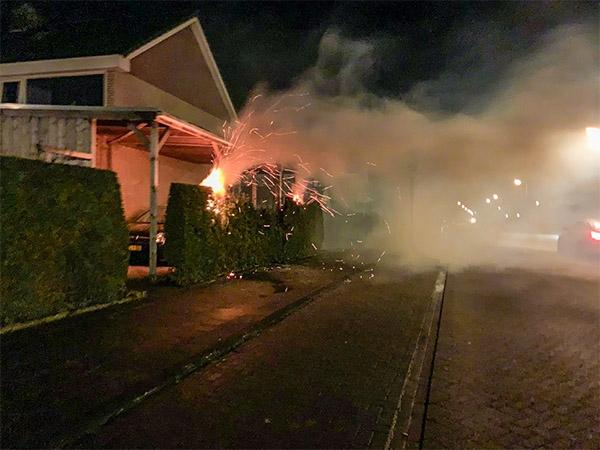 Zoveelste coniferenbrand in Drachten