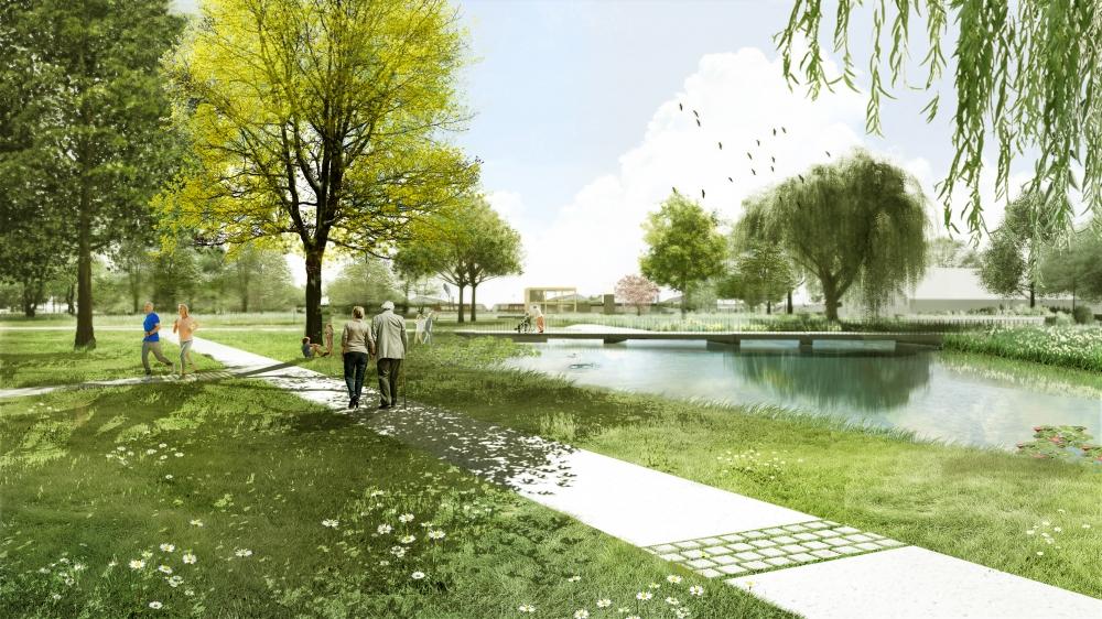 Frisia Bergum legt park transferium Feanwâlden aan
