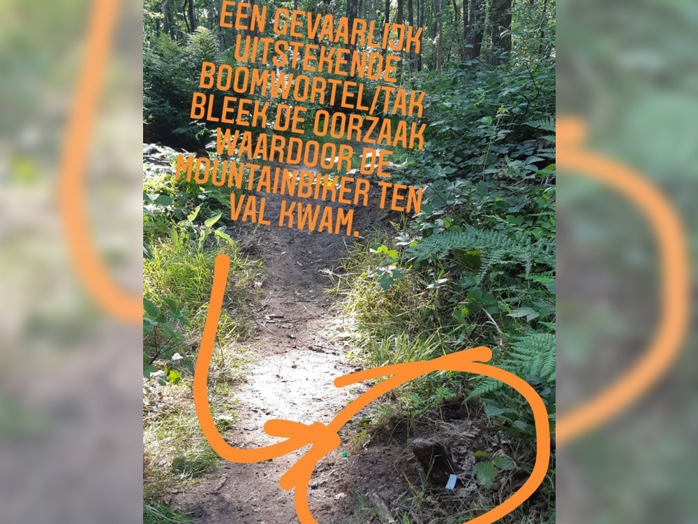 Mountainbiker gewond na val in bos