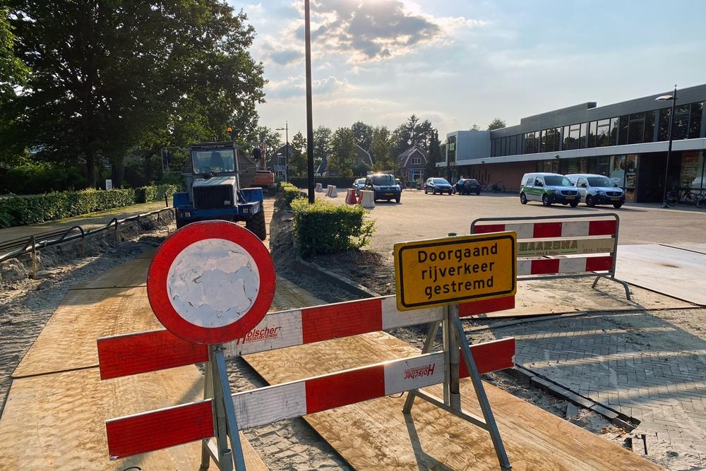 Vijver achter Glinstra State vangt regenwater op