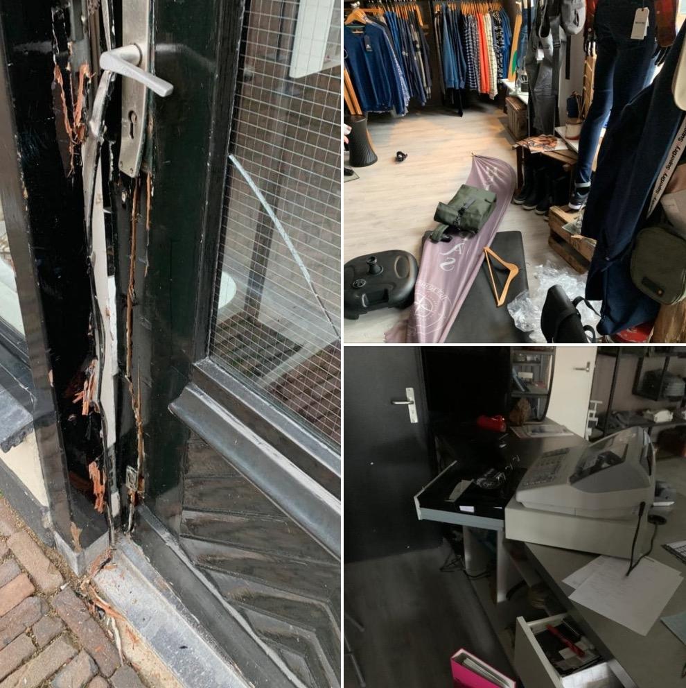 Inbraak bij kledingzaak Het Kompas in Grou